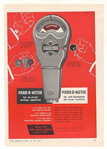 1955 Park-O-Meter Model H Parking Meter Original Print Ad - Park Model H