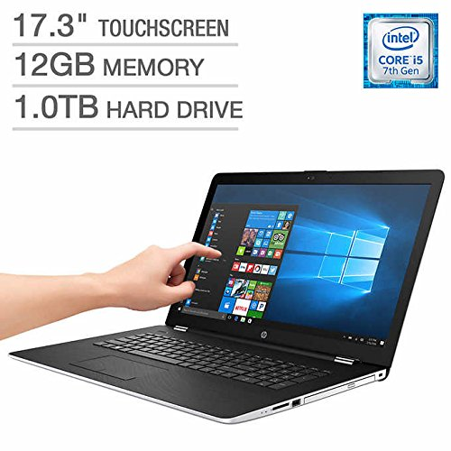Hp 17.3Inch Touchscreen Laptop: i5-7200u, 12GB Memory, 1TB Hard Drive, DVDRW, Backlit keyboard,...