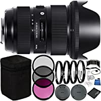 Sigma 24-35mm f/2 DG HSM Art Lens for Nikon F Bundle with Manufacturer Accessories & Accessory Kit (23 Items)