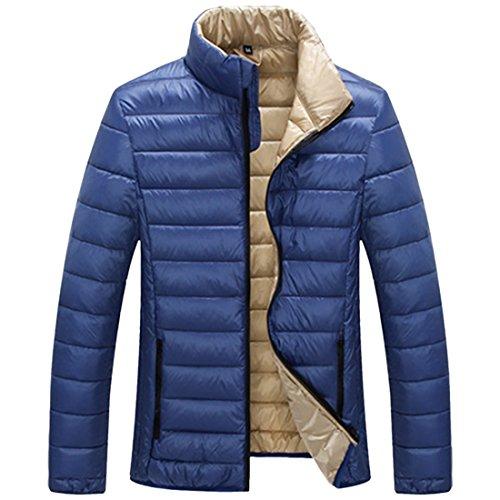 Puffer Partiss Winter Jacket Lightweight Blue Men's Down Warm Coat Packable ZTwq0aU