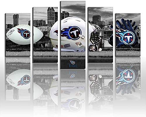 Super Bowl Tennessee Titans NFL Football Paintings Canvas Prints Picture Wall Art Poster Artwork Decor Size1 Frame