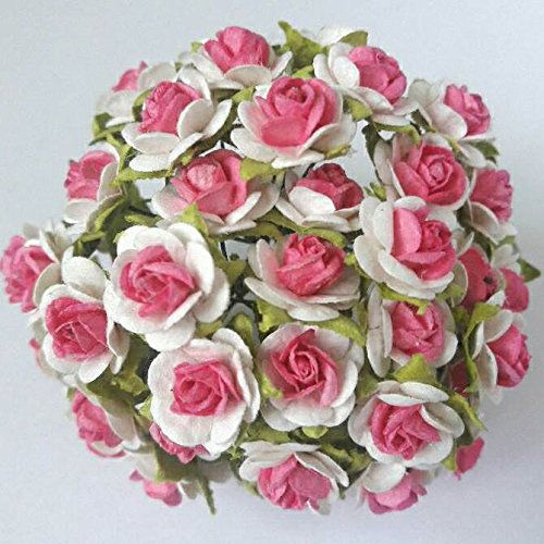 80-pcs-white-rose-with-pink-center-mulberry-paper-flowers-15-mm-bouquets-decoration