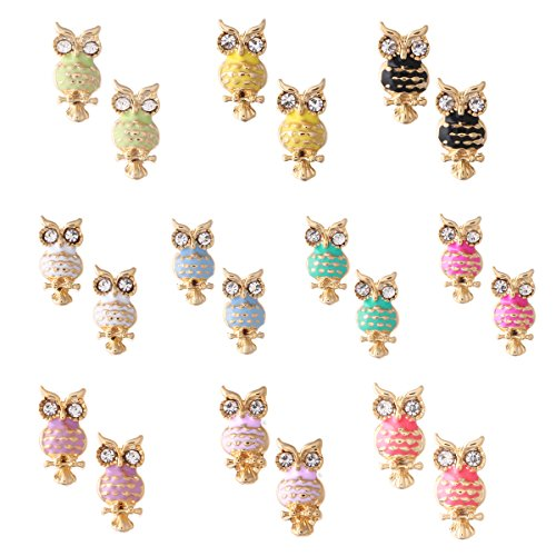 8Pairs Plated Small Simple Earrings product image