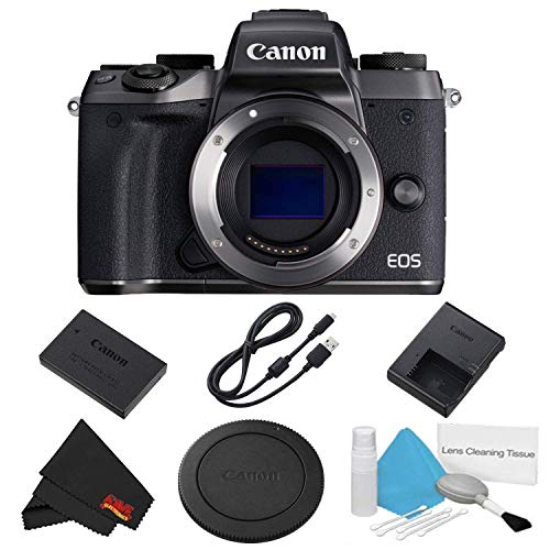 Canon EOS M5 Mirrorless Digital Camera Body Only Basic Bundle – International Model