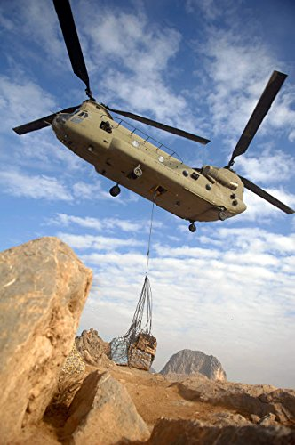 A US Army CH-47 Chinook helicopter Poster Print by Stocktrek Images (11 x 17)