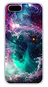 Gorgeous Galaxy Space 06 Hard Case Cover iPhone 5S 5 Polycarbonate White