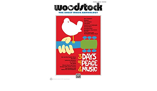 Woodstock Sheet Music Anthology Pianovocalchords Alfred Music