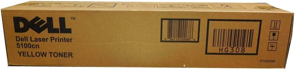 Dell HG308 OEM Toner - 5100CN Yellow Toner (OEM# 310-5808) (8000 Yield) OEM