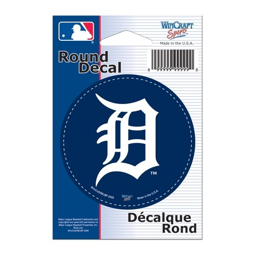 WinCraft MLB Detroit Tigers WCR68050091 Round Vinyl Decal, 3