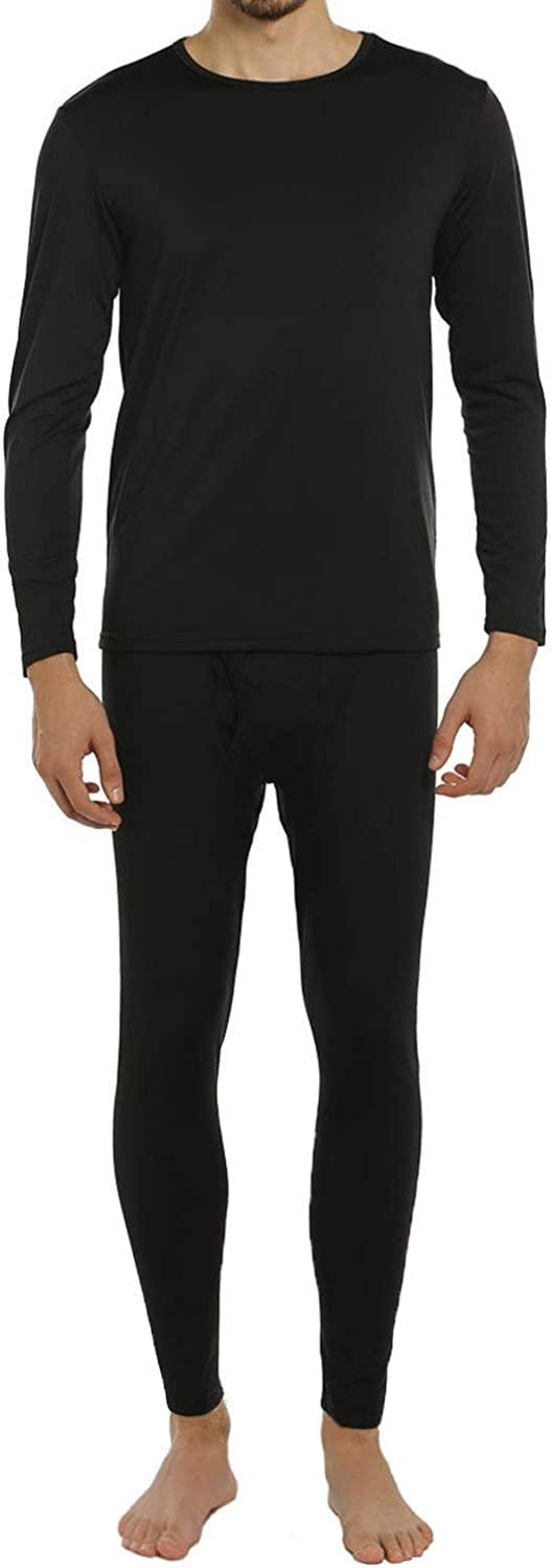 ViCherub Men's Thermal Underwear Set Fleece Lined Long Johns Winter Base Layer Top & Bottom Sets for Men
