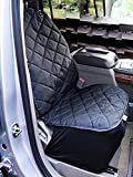 Cheap Plush Paws Co-Pilot Pet Car Seat Cover for Bucket Seats with Bonus Harness and Seat Belt for Cars, Trucks, SUVS and Vehicles – Black