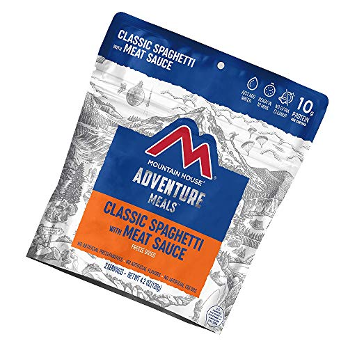 🥇 Mountain House Classic Spaghetti with Meat Sauce | Freeze Dried Backpacking & Camping Food |2 Servings