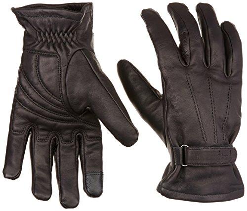 Power Trip Jet Black Lined Men's Motorcycle Gloves (Black, X-Large) (Power Trip Jet)