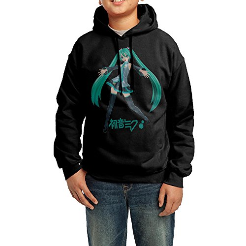 Price comparison product image Kid's Youth Hatsune Miku Girl Cartoon Logo Hoodies Pullover Hooded Sweatshirts M