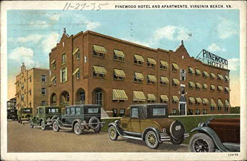 Review Pinewood Hotel and Apartments Virginia Beach, Virginia Original Vintage Postcard