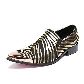 FuweiEncore Zapatos para Hombre, 2018 Spring Autumn Leather Shoes, Zapatillas sin Cordones y Mocasines, Zapatos de peluquería, Zapatos Perezosos, ...