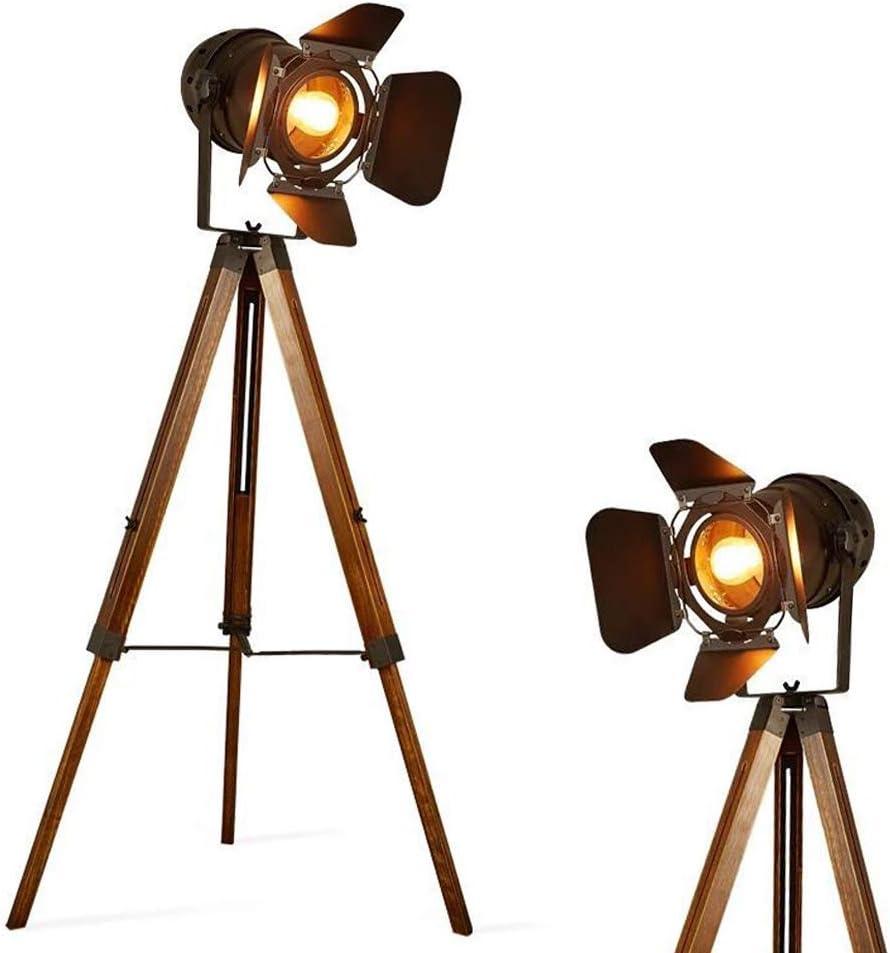 Vintage Stehleuchte Tripod Stehlampe Deckenfluter Im Cinema Stil