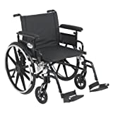 Drive Medical Viper Plus GT Wheelchair with Flip Back Removable Adjustable Full Arms, Swing away Footrests, 22'' Seat