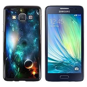 Spotlight Of The Sun - Metal de aluminio y de plástico duro Caja del teléfono - Negro - Samsung Galaxy A3