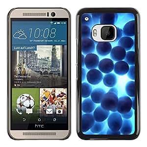 LECELL -- Funda protectora / Cubierta / Piel For HTC One M9 -- Random Blue Shine --