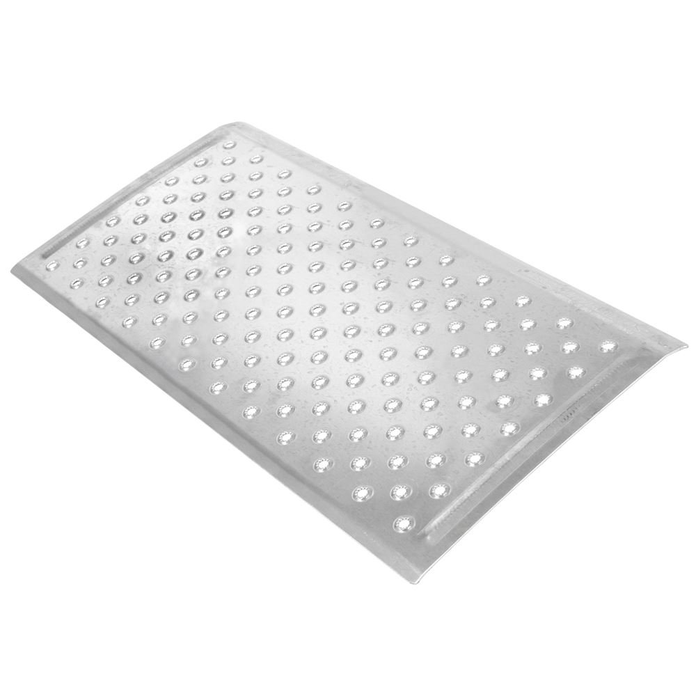 Silver Spring 2-5/8'' High Aluminum Threshold Ramp, Punch Plate Surface, 16'' L x 32'' W