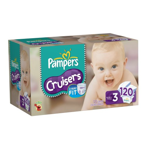 Pampers Cruisers Size 3 Diapers Value Count, 120 (Packaging May Vary)