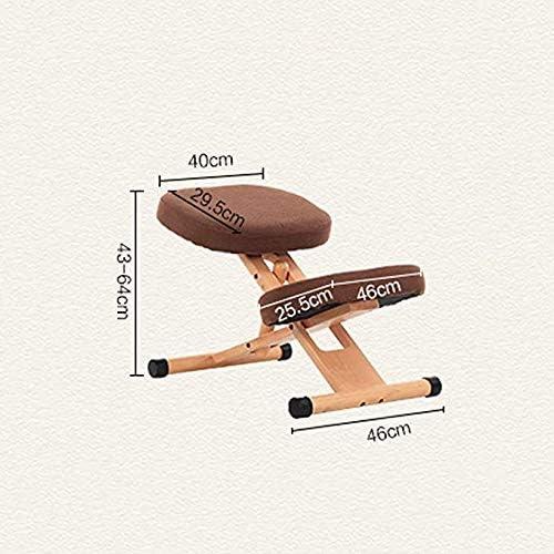 Gaojian Éponge Haute élastique Genoux Chaise Ergonomique Genoux orthopédique Ergonomique Posture Bureau Tabouret Chaise Assise en Bois,Rouge