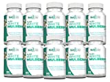 Pure White Mulberry Leaf Extract 1000mg, Promotes Healthy Weight Management, Healthy Blood Sugar Levels and Supports a Healthy Immune System - Pack of 10