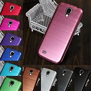 Brushed Metal Back Case For Samsung Galaxy S4 i9500 --- Color:Silver