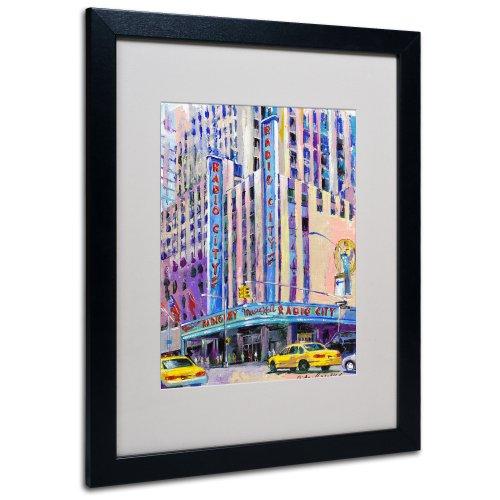 Radio City Music Hall Artwork by Richard Wallich, 16 by 20-Inch, Black Frame