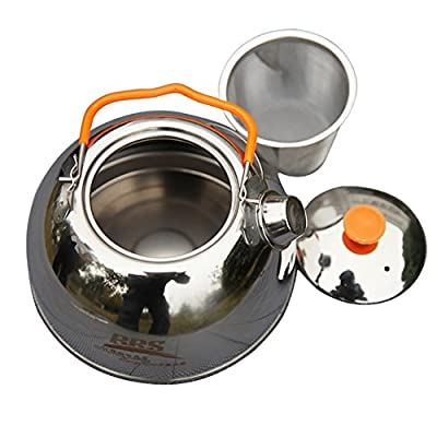 1.1L Outdoor Portable Camping Stainless Steel Kettle