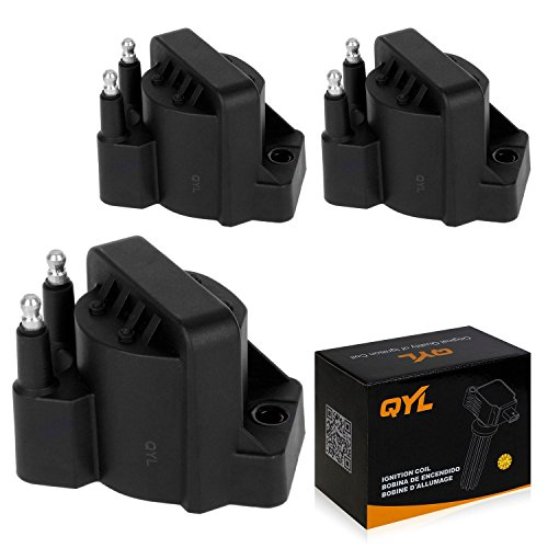 Pontiac Bonneville Ignition Coil (QYL Pack of 3 Ignition Coil Pack for Buick Chevrolet Cadillac GMC Pontiac L4 V6 C849 DR39 5C1058 E530C D555)