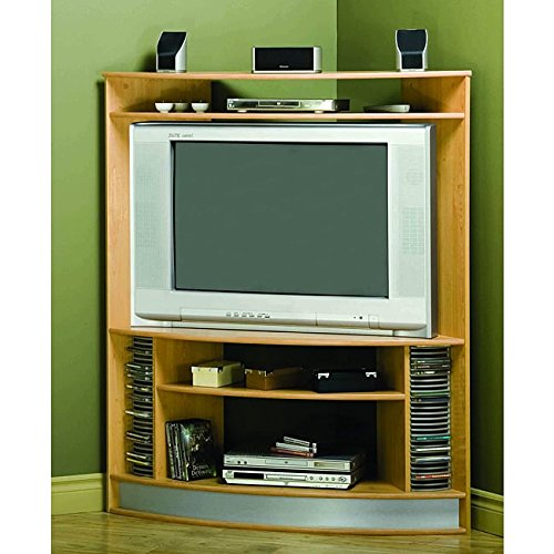 Tv Stand Maple Corner (Monarch Maple Corner 42-inch TV Stand With Silver Base)
