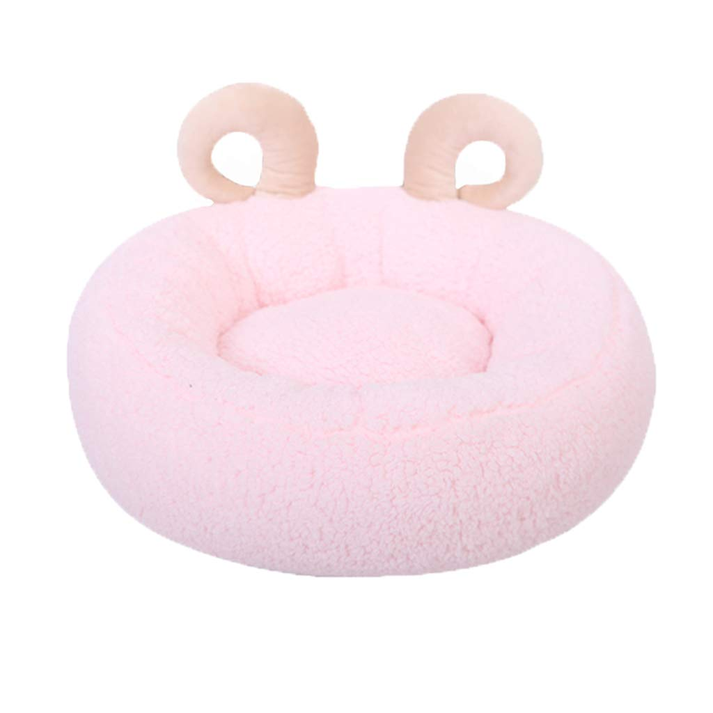 Hxyan Dog Bed Indoor Small Pet Nest Cat Bed Pink Aries Pet Bed Pearl Cotton 50  50  20cm