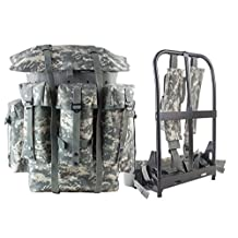 AKmax G.I. ALICE Backpack and Iron Frame with ACU Digital Grey Cordura Straps and Waist Belt