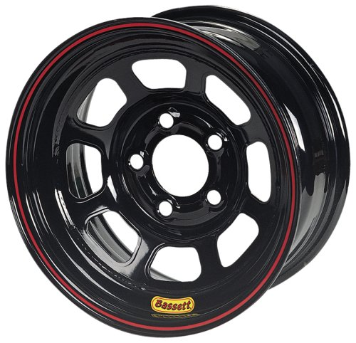 Bassett Wheel D Hole Lightweight Beaded Black Powder Coat   15 X 10 Inch Wheel