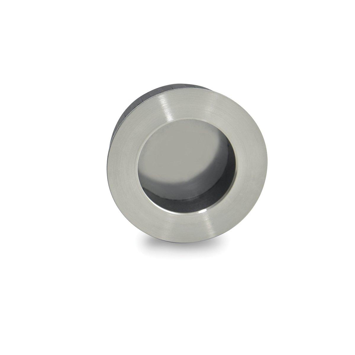 Jako WFH111X50 Round Flush Pull - Stainless Steel, Diameter 2''