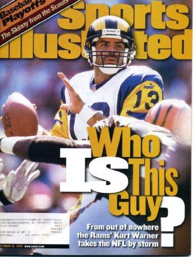 Sports Illustrated October 18 1999 Kurt Warner/Los Angeles Rams on Cover, Baseball Playoffs, Rickey Henderson/New York Mets, Michigan State Spartans Football, Brian Jordan/Atlanta Braves, Roger Clemens/New York Yankees