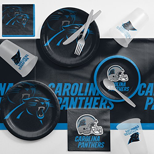 - Creative Converting Carolina Panthers Game Day Party Supplies Kit, Serves 8