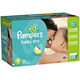 Pampers Baby Dry Diapers Giant Pack, Size 4, 128 Count (One Month Supply)