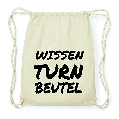 JOllify WISSEN Hipster Turnbeutel Tasche Rucksack aus Baumwolle - Farbe: natur Design: Turnbeutel hmYW4zHu3s
