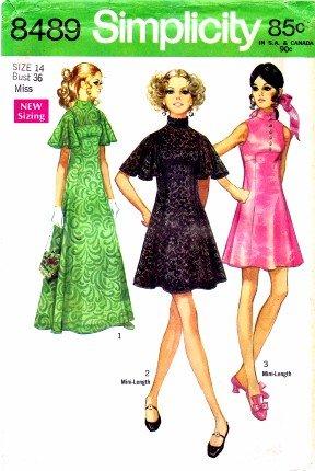 Amazon.com: Simplicity 8489 Sewing Pattern Evening Dress Mini Size ...