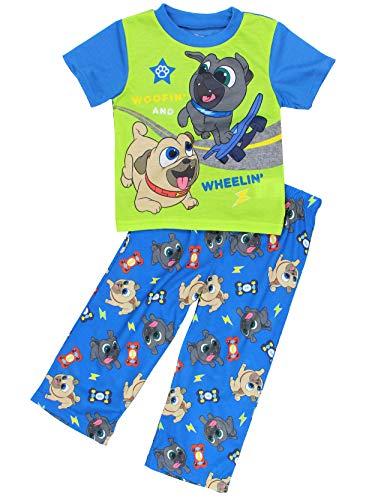 (Puppy Dog Pals Toddler Boy's 2 Piece Short Sleeve Pajamas Set (3T, Green/Blue))