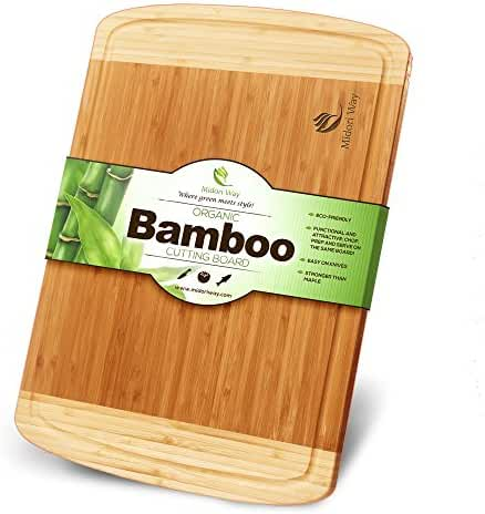 Small Bamboo Wood Cutting Board With Juice Grooves Best For Chopping Bread, Meat, and Cheese. Small (12 X 9) You Will Love How This Midori Way Decorative Buffet Tray Looks On Your Kitchen Counter.