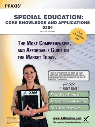 praxis special education core knowledge and applications 0354 rh amazon com special education praxis 5543 study guide special education praxis 5543 study guide