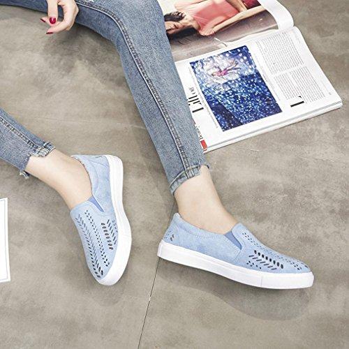 Out Hollow Vos Lolittas Bleu Dames Flat forme Creuses Plates Chaussures Bout En Femme Rond Glissez Sport Femmes Plate Daim Pour De q1X1zYw