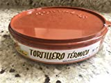 Tortilla Warmer - Tortilla server - Food Container - Perfect for Keeping Tortillas,Microwave Save (Brick Red) 2 Southwest Style Towels