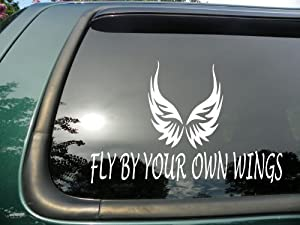 Amazoncom Fly By Your Own Wings Die Cut Vinyl Window Decal - Make your own decal sticker for car