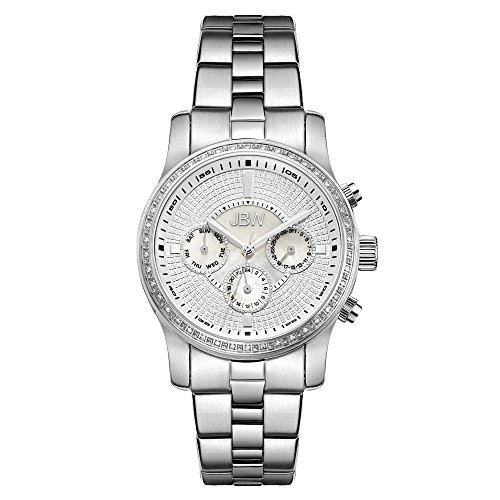 JBW Women's J6327A Vixen Stainless Steel Diamond Chronograph Watch with Sub Dials and Date Window ()