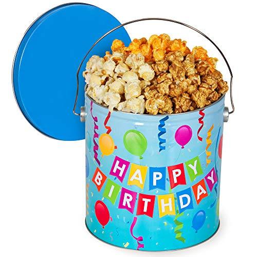 Happy Birthday Popcorn Tin (People's Choice Mix, 1 Gallon)